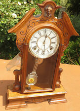 Vtg/Antique Waterbury Montrose Eight day strike wall/mantel clock