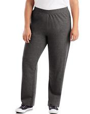 New Women's JMS Comfort Soft Eco Smart Open Hem Gray  fleece Sweatpants 3X 22-4W