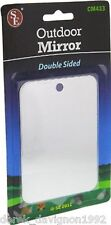 New Doubled Sided Emergency Signaling Camping Mirror-  Stainless Steel