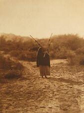 "Edward S. Curtis, ""Burden Bearer - Pima"", Photogravure, 15.875""h x 11.75""w image"