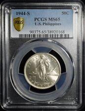 1944-S U.S. Philippines 50 Centavos - U.S. Administration - PCGS MS65