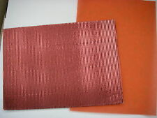 Sheet A4 metalic ribbed Red / Burgandy card + A4 Sheet Red Heart Vellum NEW
