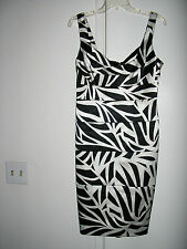 LONDON TIMES BLACK & WHITE FITTED DRESS SIZE 10  EXC/CON