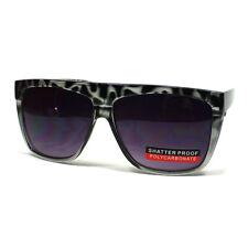 UNIQUE Mob Sunglasses Squared Flat Top Tort BLACK 80's Retro Oversized