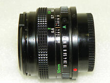 A+ CANON FD 50mm F/1.8 F1.8 Lens with Polarizer filter and both caps ECU