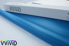 "Vvivid Xpo Blue 3D carbon fiber 3"" x 4"" sample car wrap decal"