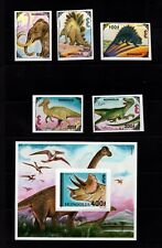 Mongolia #2182-87 (1994 Dinosaurs set and  sheet) VF MNH  imperforate