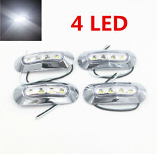 4X 12V/24V 4 LED Side Marker White Clearance Lights Indicators Trailer Truck AHY