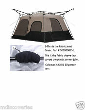 Coleman instant tent 4, 6, 8 used Tent Parts Fabric Joint Cover # 5010000856