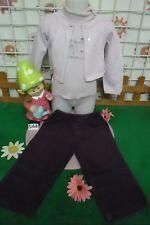 vêtements occasion fille 2 ans,pantalon velours,s-pull PETIT BATEAU,gilet