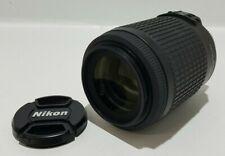 Nikon DX AFS Nikkor 55-200mm f/4-5.6G ED VR Camera Lens + Bag & Lens Caps