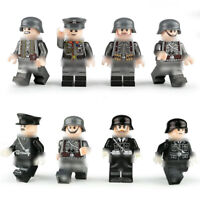 8pcs German Soldier Figures Building Blocks WW2 Military Army Man Toys Bricks