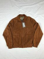 NWT Gallotti Men's Brown Italian Suede Leather Bomber Jacket Size 50 Retail $795