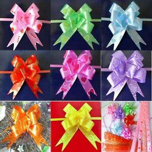100 PCS Colorful Handmade Pull Flower Ribbon For Gift Wrap, Decoration