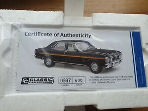 1:18 Classic Carlectatables Ford Fairmont XY Grand Sport Onyx Black