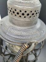 Vintage Adams &Westlake railroad lantern BURLINGTON route stamped patent 1886-97