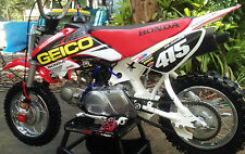 CRF 50 Geico style graphic / decal kit Personalised FREE UK SHIPPING