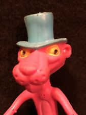 Vintage Poseable Rubber Bendy Pink Panther in a Top Hat Toy Figure Amscan