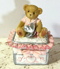 2003 Enesco Cherished Teddies Covered Box For A Girl #114233 Mib