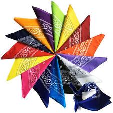 12 x Colorata Paisley Bandana Cotone Fashion Collo Sciarpa Cowboy Vestirsi Set