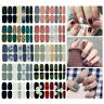 Flower Geometry Full Cover Nail Wraps Self-adhesive Stickers Nail Art Decals DIY