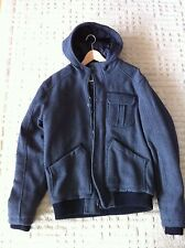 Jack and Jones Men's Jacket Size XL Grey Carmax Wool Mix Coat with hood