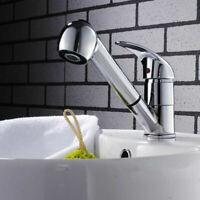 Küchenarmatur Einhebelmischer Wasserhahn Waschbecken Mixer Mit Ausziehspray ATPA
