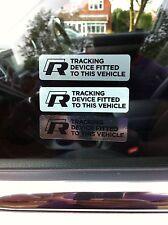 VW WINDOW R LINE ALARM STICKERS GOLF GTI PASSAT JETTA VW R LINE POLO GT GPS