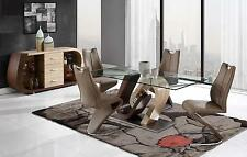 D4126DT + D4126DC Glass Table & 4 Chairs Global Furniture 5PC