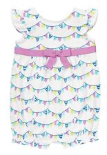NWT GYMBOREE PINWHEEL PASTELS ROMPER WITH A BOW SIZE 6-12 MONTHS