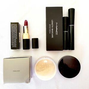 3pc Make Up Lot Translucent Loose Setting Powder Black Lash Mascara Red Lipstick