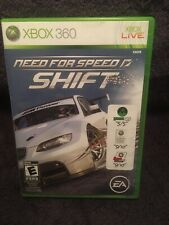 Need for Speed: Shift (Microsoft Xbox 360, 2009) GAME COMPLETE w/MANUAL CARS CIB
