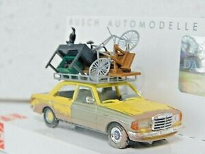 Busch 46858 1/87 Mercedes Benz W123 w/Roof Load and Weathered  NIB
