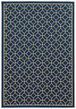 """3'x6' Sphinx Geometric Blue Octagon Outdoor 4771G Door Mat - Aprx 3' 7"""" x 5' 6"""""""