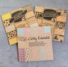 3 Motivpapier Mix&Match Passion Vintage Basteln Advent Scrapbooking Filofax Neu