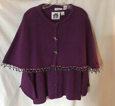Story Book Knits Purple Twin Set w/Embellishments. SZ M