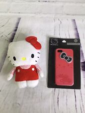Loungefly Hello Kitty iPhone 5 Plush And Hard Case Red White 2 Piece Lot Sanrio