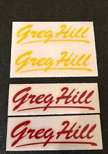 Greg Hill Signature Fork Decals - Choice of 2 Style and 3 colors, buying 1 pair