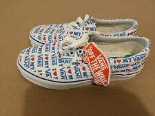 Vans I Love My Vans Canvas Shoes Womens Size 4 New