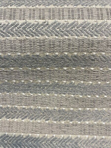 Waverly Upholstery Stripe Admiral Nickle Gray Stripe Fabric By the Yard
