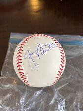 Jason Varitek Boston Red Sox Autographed 2007 World Series Baseball IP