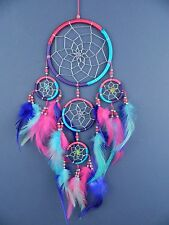 Attrape Rêve Turquoise Rose Violet Argent Qualité Dreamcatcher milieu 12x30cm