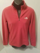 THE NORTH FACE WOMENS FLEECE 1/4 ZIP PULLOVER SIZE S/P pink fuchsia rose (K10)