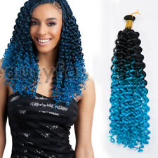 Ombre Full Head Water Wave Deep Curly Crochet Braids 100% Human Hair Extensions
