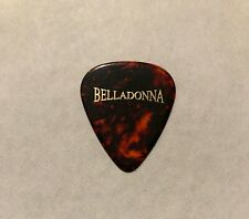 Joey Belladonna Al Romano 2010 Tour Guitar Pick Signature Anthrax Red Tortoise