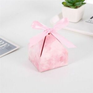 Diamond Shape Boxes Candy Chocolate And Cookies Packaging With Ribbon Gift Party