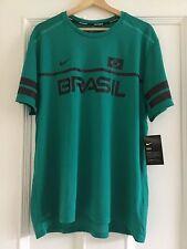 Mens NIKE RUNNING DRY Brasil Shirt Size XL DRI FIT