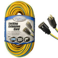 Coleman Cable 14 GA, 100 FT Locking Outdoor Extension Cord