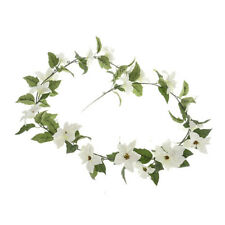 Poinsettia Christmas Garland Artificial 165cm White