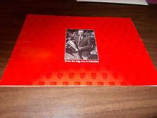 Original 1989 Porsche History of Racing Red Sales Brochure